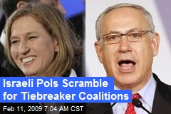 Israeli Pols Scramble for Tiebreaker Coalitions