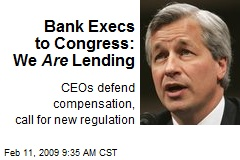 Bank Execs to Congress: We Are Lending