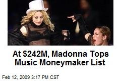 At $242M, Madonna Tops Music Moneymaker List