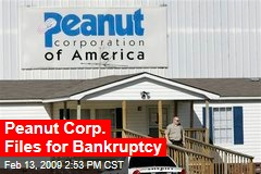 Peanut Corp. Files for Bankruptcy