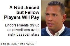 A-Rod Juiced but Fellow Players Will Pay