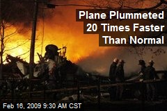 Plane Plummeted 20 Times Faster Than Normal