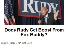 Does Rudy Get Boost From Fox Buddy?