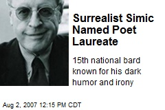 Surrealist Simic Named Poet Laureate