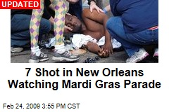 7 Shot in New Orleans Watching Mardi Gras Parade