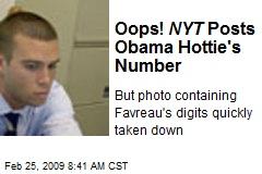 Oops! NYT Posts Obama Hottie's Number