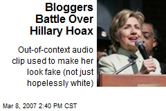 Bloggers Battle Over Hillary Hoax