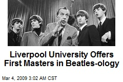 Liverpool University Offers First Masters in Beatles-ology