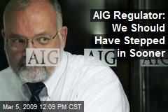 AIG Regulator: We Should Have Stepped in Sooner