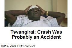 Tsvangirai: Crash Was Probably an Accident