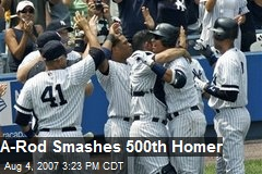 A-Rod Smashes 500th Homer