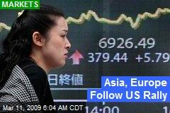 Asia, Europe Follow US Rally