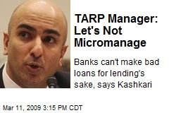TARP Manager: Let's Not Micromanage