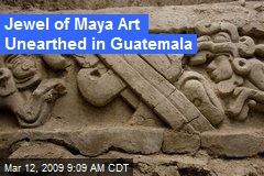 Jewel of Maya Art Unearthed in Guatemala