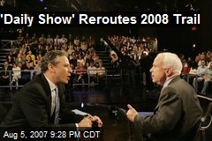'Daily Show' Reroutes 2008 Trail
