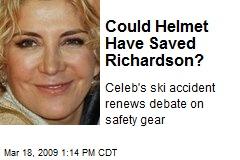 Could Helmet Have Saved Richardson?