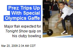 Prez Trips Up With Special Olympics Gaffe