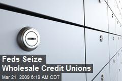Feds Seize Wholesale Credit Unions