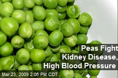 Peas Fight Kidney Disease, High Blood Pressure