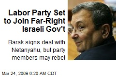 Labor Party Set to Join Far-Right Israeli Gov't