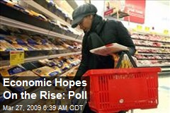 Economic Hopes On the Rise: Poll