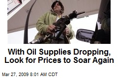 With Oil Supplies Dropping, Look for Prices to Soar Again