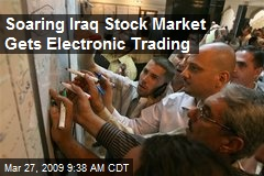 Soaring Iraq Stock Market Gets Electronic Trading