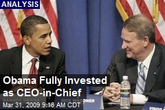 Obama Fully Invested as CEO-in-Chief