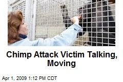 Chimp Attack Victim Talking, Moving