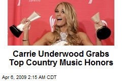 Carrie Underwood Grabs Top Country Music Honors