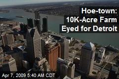 Hoe-town: 10K-Acre Farm Eyed for Detroit