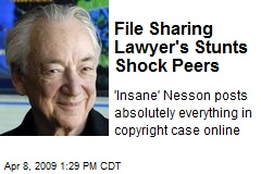 File Sharing Lawyer's Stunts Shock Peers
