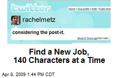 Find a New Job, 140 Characters at a Time