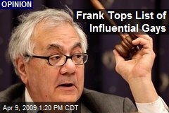 Frank Tops List of Influential Gays