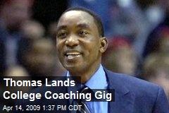 Thomas Lands College Coaching Gig