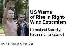 US Warns of Rise in Right-Wing Extremism