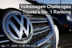 Volkswagen Challenges Toyota's No. 1 Ranking