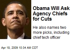 Obama Will Ask Agency Chiefs for Cuts