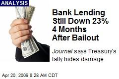 Bank Lending Still Down 23% 4 Months After Bailout