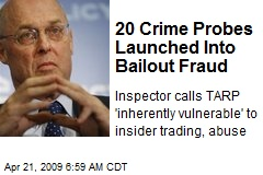 20 Crime Probes Launched Into Bailout Fraud