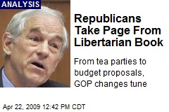 Republicans Take Page From Libertarian Book