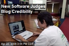 New Software Judges Blog Credibility