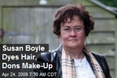 Susan Boyle Dyes Hair, Dons Make-Up