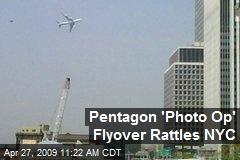 Pentagon 'Photo Op' Flyover Rattles NYC