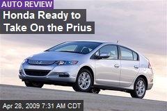 Honda Ready to Take On the Prius