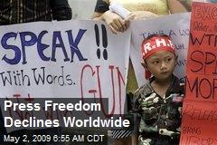 Press Freedom Declines Worldwide
