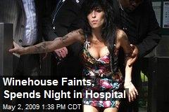 Winehouse Faints, Spends Night in Hospital