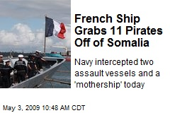 French Ship Grabs 11 Pirates Off of Somalia