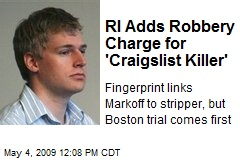 RI Adds Robbery Charge for 'Craigslist Killer'