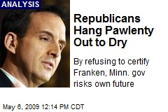 Republicans Hang Pawlenty Out to Dry